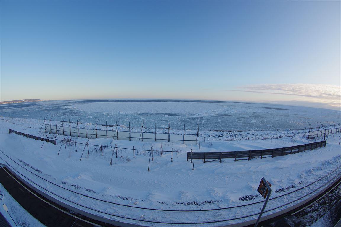 北浜駅からみる流氷