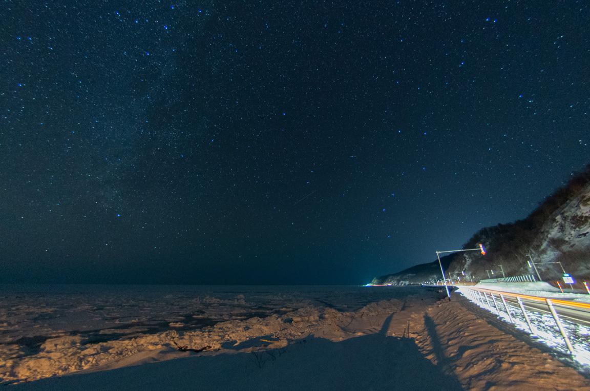 流氷と星空2