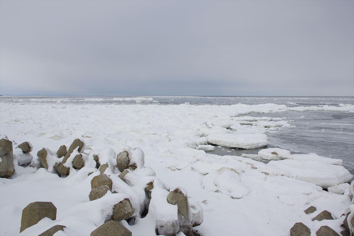 常南ビーチの流氷2
