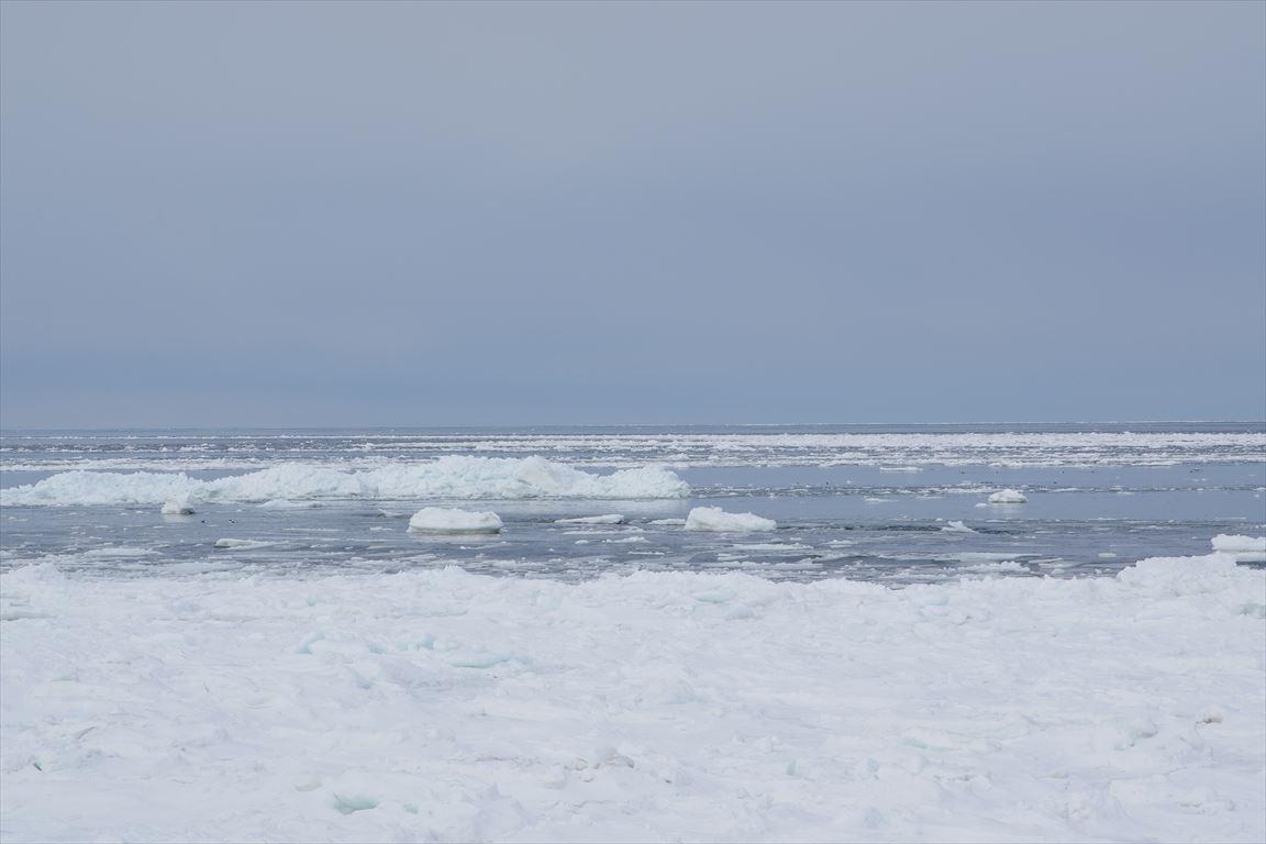 常南ビーチの流氷