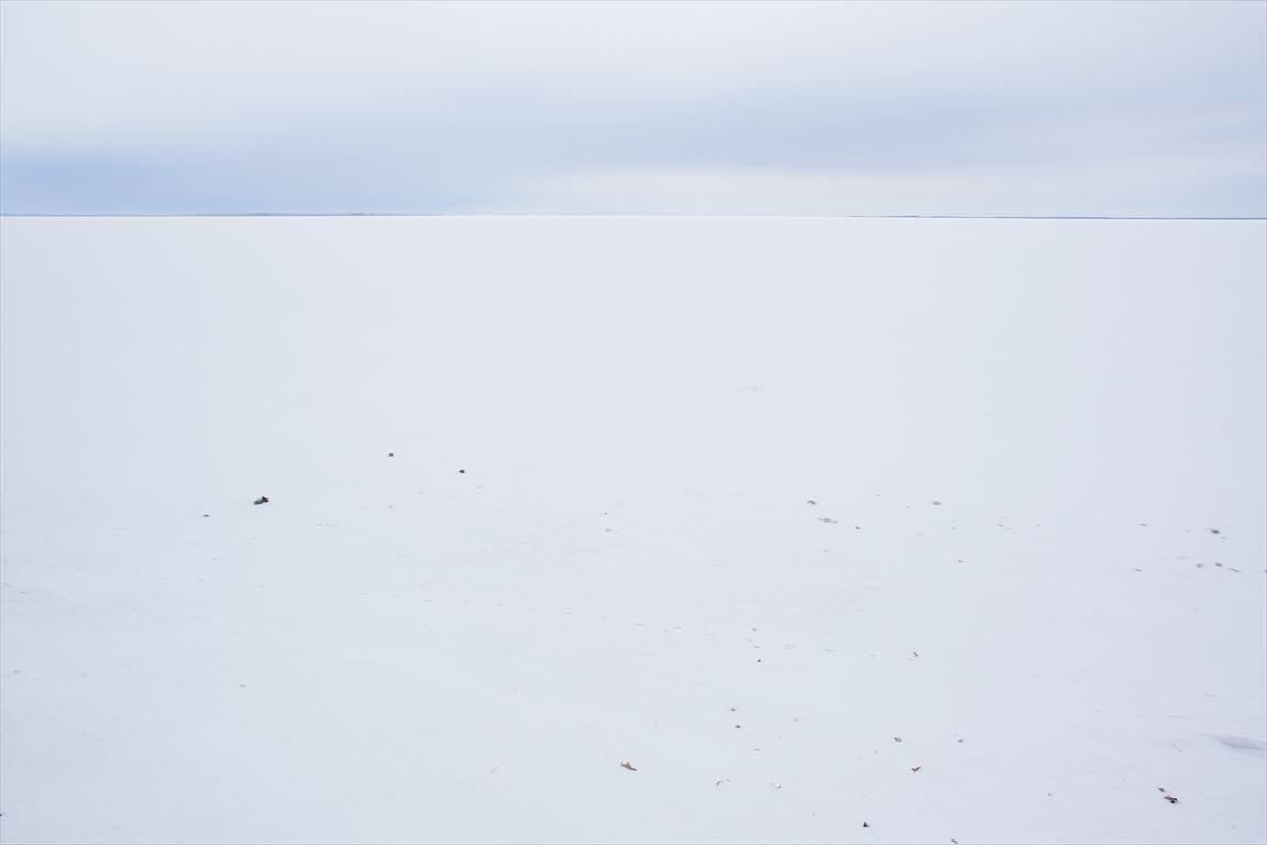 雪原のようなサロマ湖