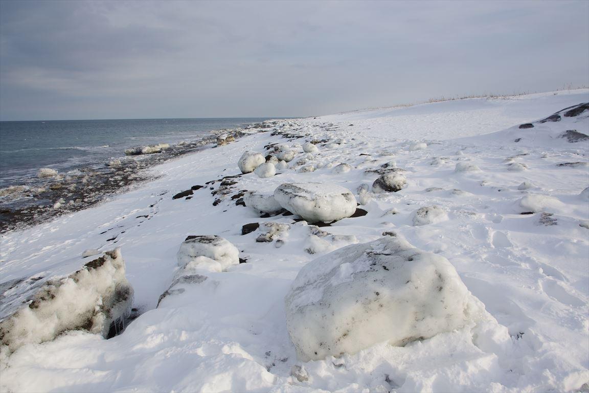 流氷岬の海岸