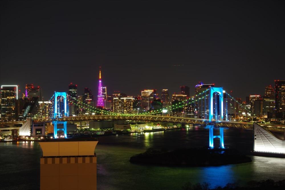 グランドニッコー東京台場 エグゼクティブフロアからの夜景