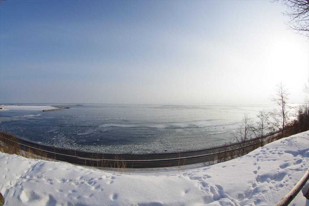 公園から望むオホーツク海